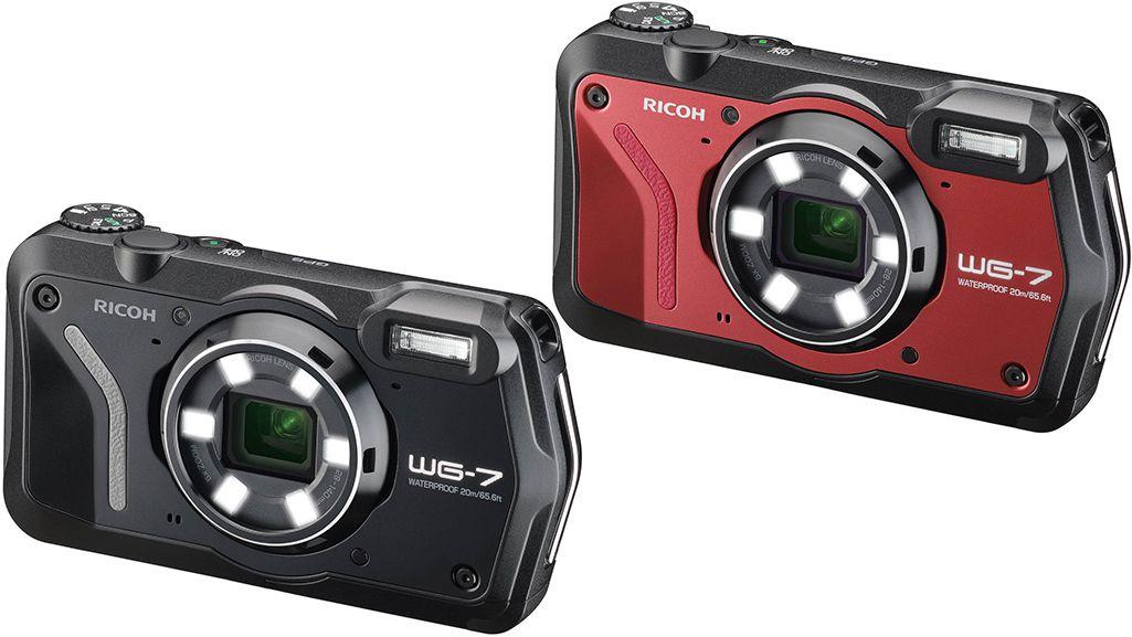 Ricoh WG-7 в черном и красном цветах