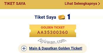 Cara mendapat dan menggunakan golden ticket di shopee
