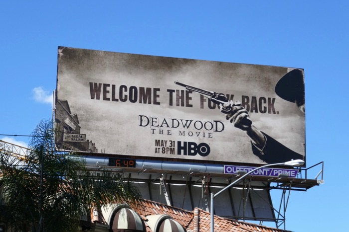 Deadwood 2019 Movie billboard