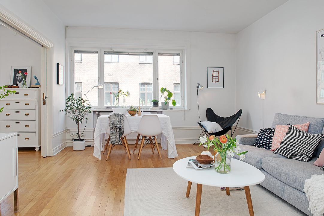 Una pizca de hogar piso 10 minimalista con toques retros for Decoracion piso 20 metros