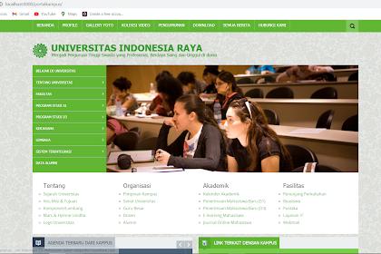 Aplikasi Website Portal Kampus dengan Framework Codeigniter