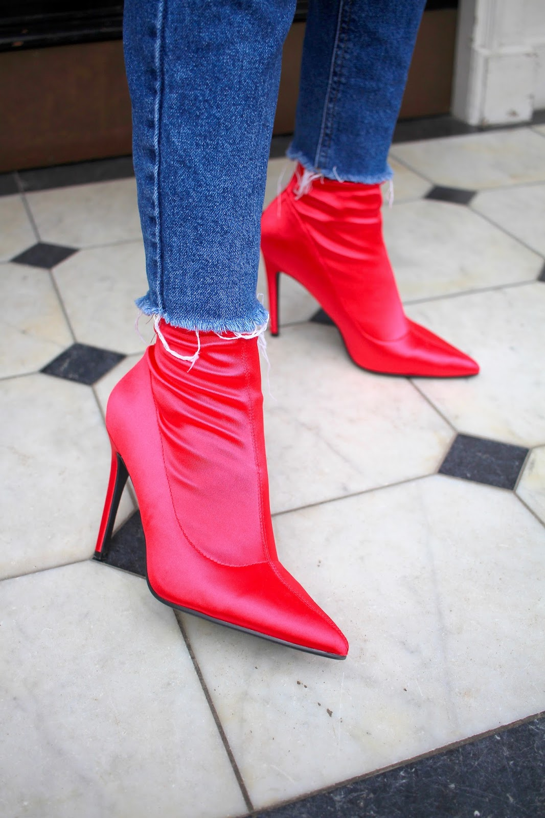 red sock boots new look peexo