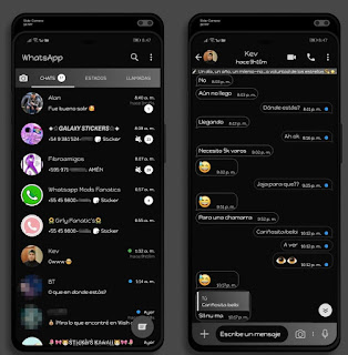 Amoled Dark Theme For YOWhatsApp & Fouad WhatsApp By Ethel