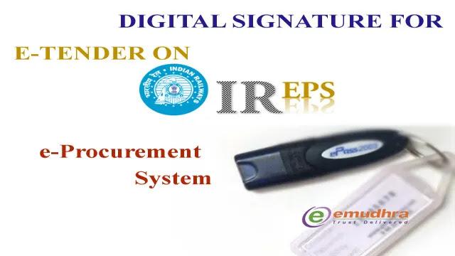 DSC for Railway e-Tender