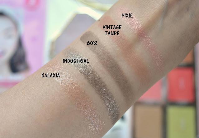 Natasha Denona Mini Retro Eyeshadow Palette Swatches