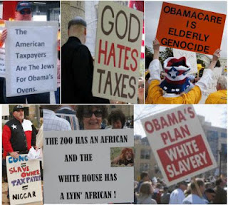 racist tea party signs