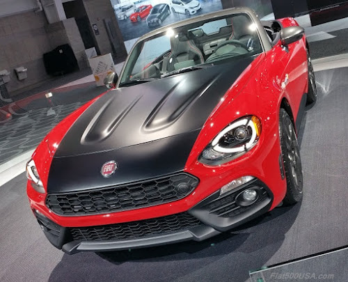 Fiat 124 Spider Elaborazione Shown