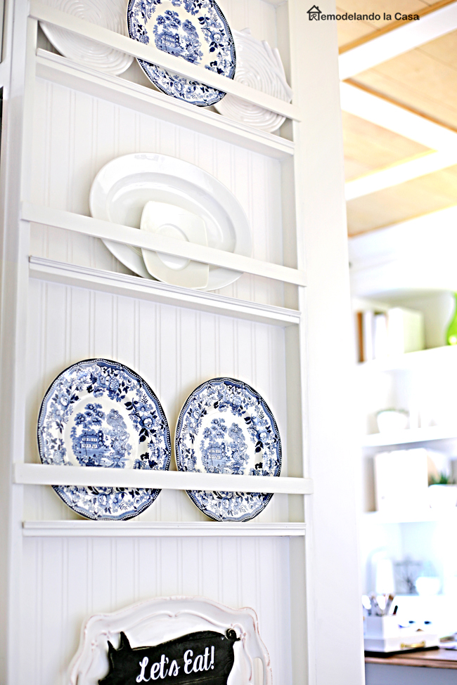 How to build a plate rack on the side of fridge