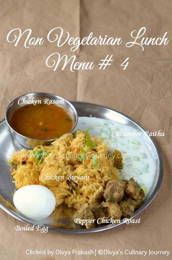Divyas culinary journey indian non vegetarian lunch menu 4 indian non vegetarian lunch menu 4 chicken special forumfinder Images