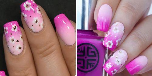 como finalizar a decoração de unhas com esmalte rosa