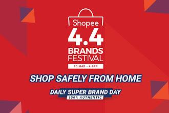 Duduk Rumah, Shopee Hantar  Beli-belah dengan selamat dari rumah dengan tawaran RM0.44 dan   penghantaran percuma dengan perbelanjaan minimum RM8