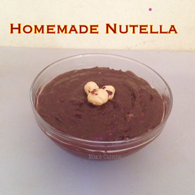 Homemade Nutella / Chocolate Hazelnut Spread/How to make nutella at home