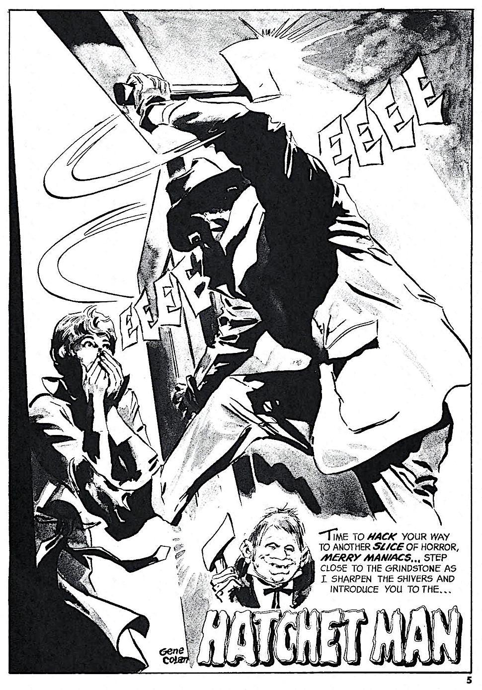 a Gene Colan 1971 horror story panel for Eerie magazine