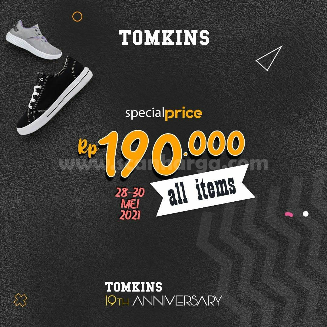 Promo Tomkins Anniversary Sale! Only Rp 190.000 All Items