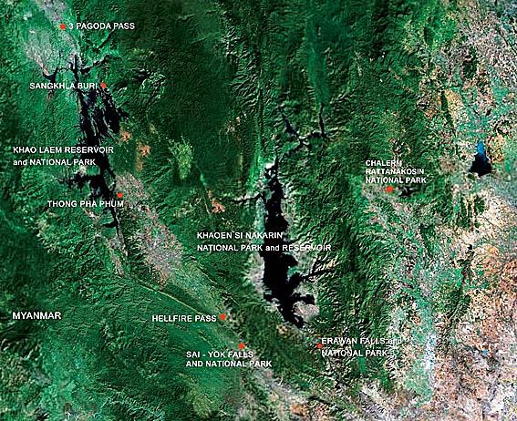 Kanchanaburi Map