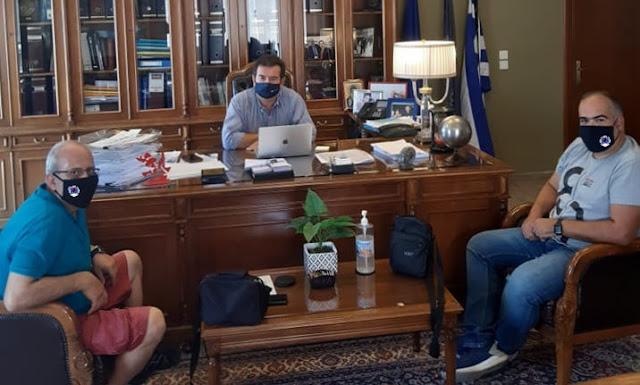 Συνάντηση Μαλτέζου με εκπροσώπους της Ελληνικής Ομάδας Διάσωσης Αργολίδας