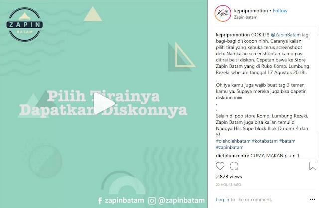Promo Diskon Zapin Oleh Oleh Kota Batam Edisi Hari Kemerdekaan