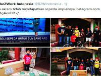 Ketulusan Akram Menyumbang Buahkan Hasil, B2W Makassar Beri Hadiah Sepeda Lipat