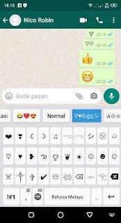 Cara Membuat Emoji Love Transaparan di Whatsapp
