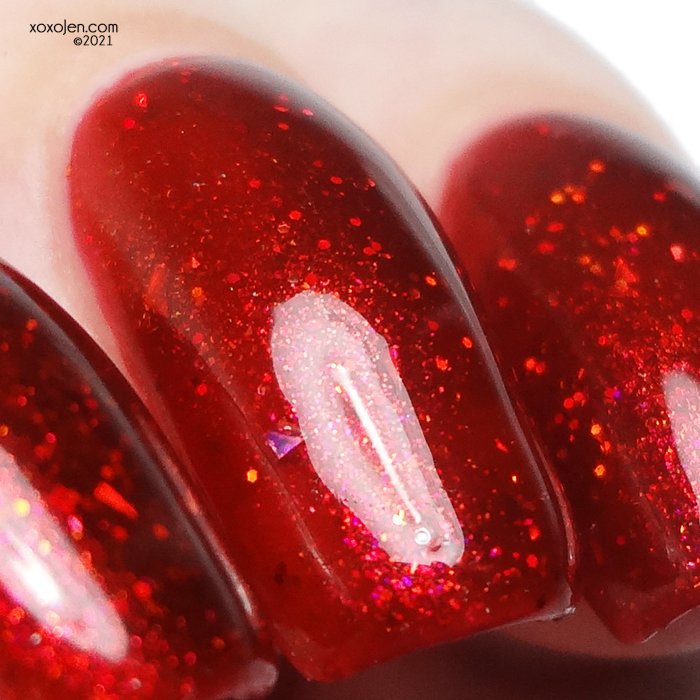 xoxoJen's swatch of Nevermind Blood Moon