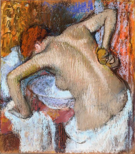 Эдгар Дега - Женщина за туалетом (ок.1888-1892)