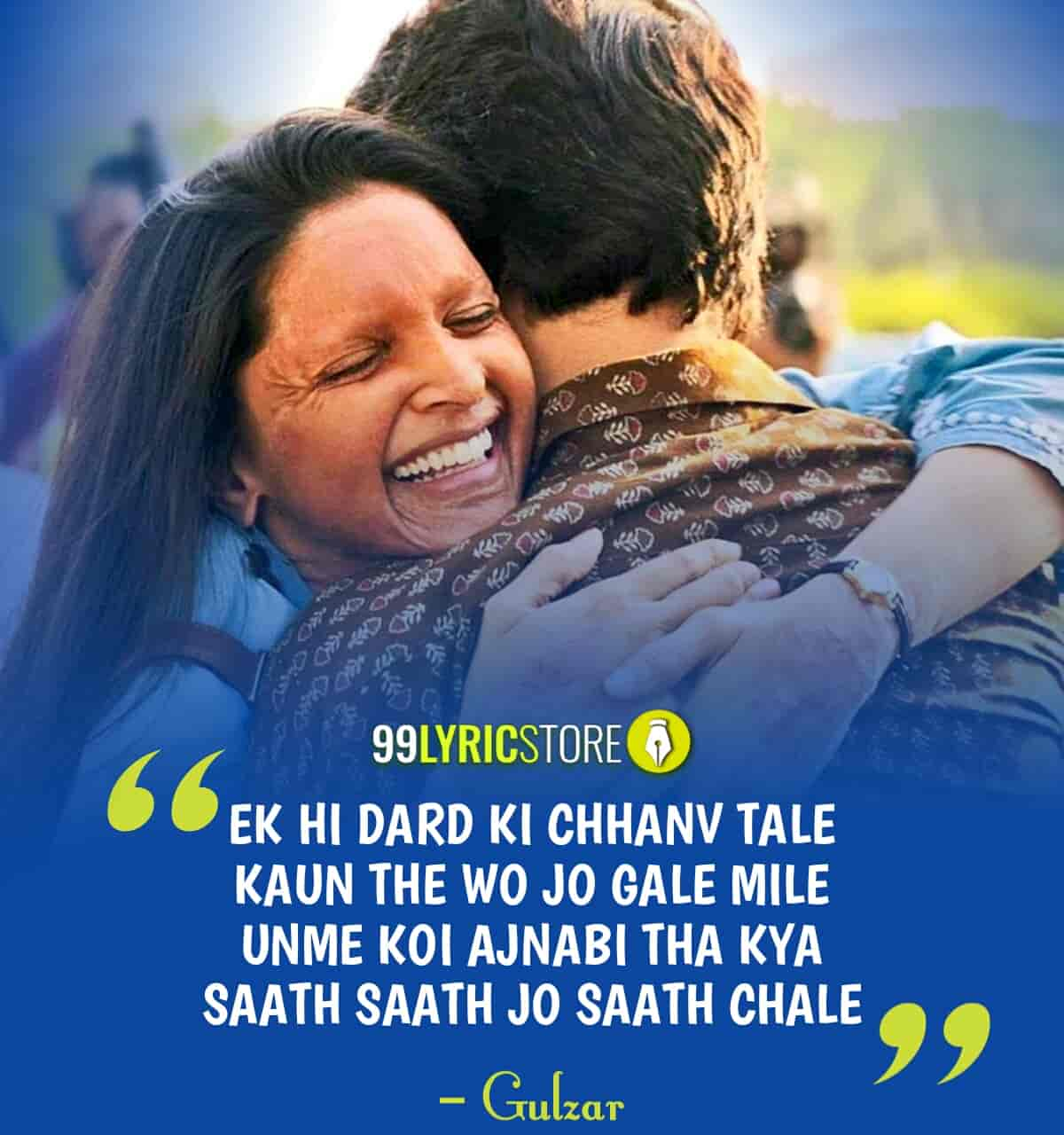 Nok Jhok Lyrics Images Chhapaak