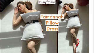 Tammannah pillow Dress pics posted in Instagram