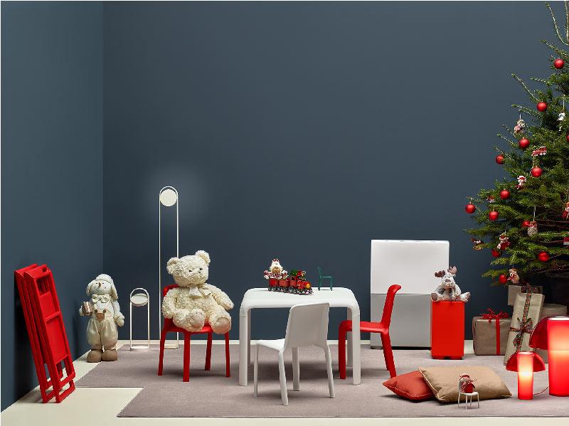 Gli arredi Pedrali ispirano suggestivi allestimenti e decorazioni per il Natale