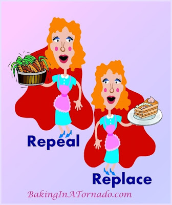 Repeal and Replace. Or Not, a funny look at what else we should be repealing and replacing | www.BakingInATornado.com | #funny #MyGraphics