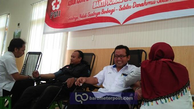 Memperigati  Hari Pers Nasional (HPN) PTP X Bersama Forum Wartawan Lintas Media  (FWLM) Jember Bhakti Donor Darah PMI