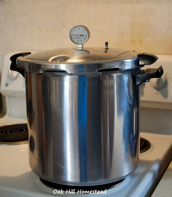 You MUST use a pressure canner to can meat and vegetables.
