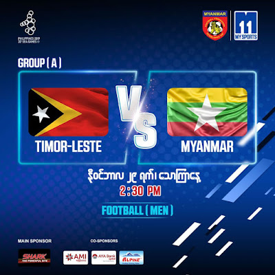 Live Streaming Timor Leste vs Myanmar (SEA GAMES) 29.11.2019