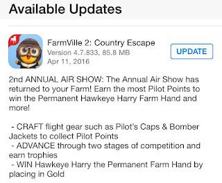 FarmVille 2 Country Escape Second Annual Air Show event