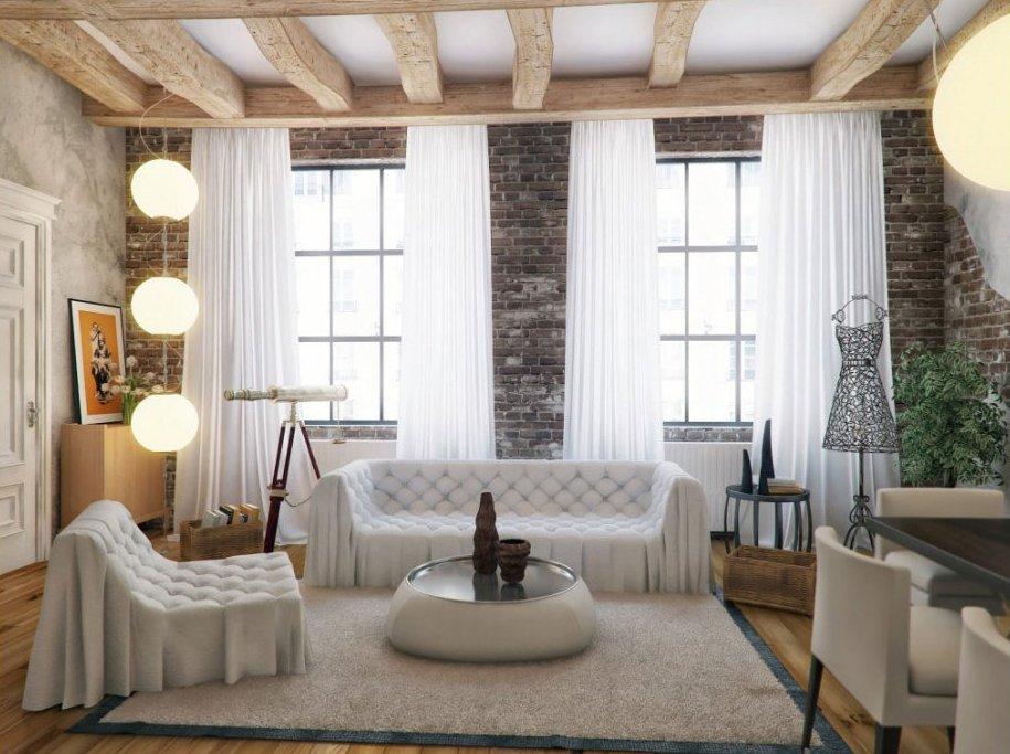 Decoracion actual de moda decoraci n con paredes de ladrillo cara vista - Pared de ladrillo blanco ...