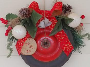 Restyled Junk Wheel Wreath