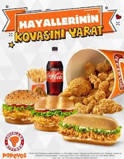 popeyes menu fiyat listesi türkiye hayallerinin kovasını oluştur tıkla gelsin online sipariş