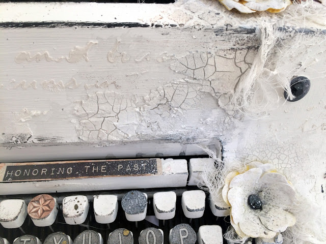 Altered Typewriter by Solange Marques featuring Once Upon a Lifetime BoBunny collection and BoBunny Mixed media products