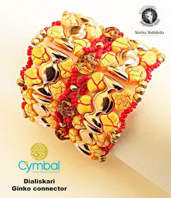 Ionic Beads Martha Mollichella The Beadsmith Cymbal elements beads