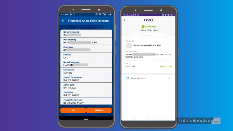 Tutorialengkap 5 Cara isi Ovo Cash Dari Bri Mobile Banking atau ATM BRI