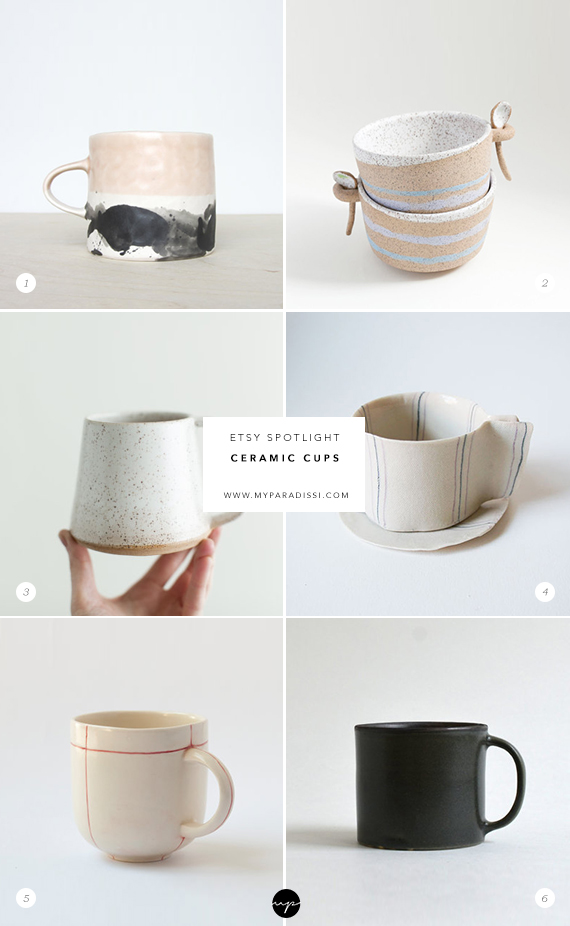 ETSY SPOTLIGHT: Ceramic cups. Picks by My Paradissi