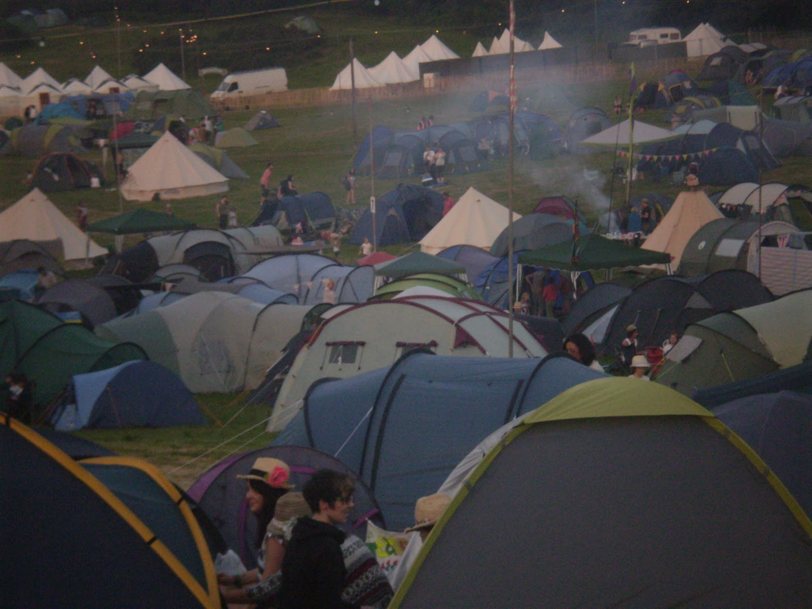 crowded festival tents at camp bestival
