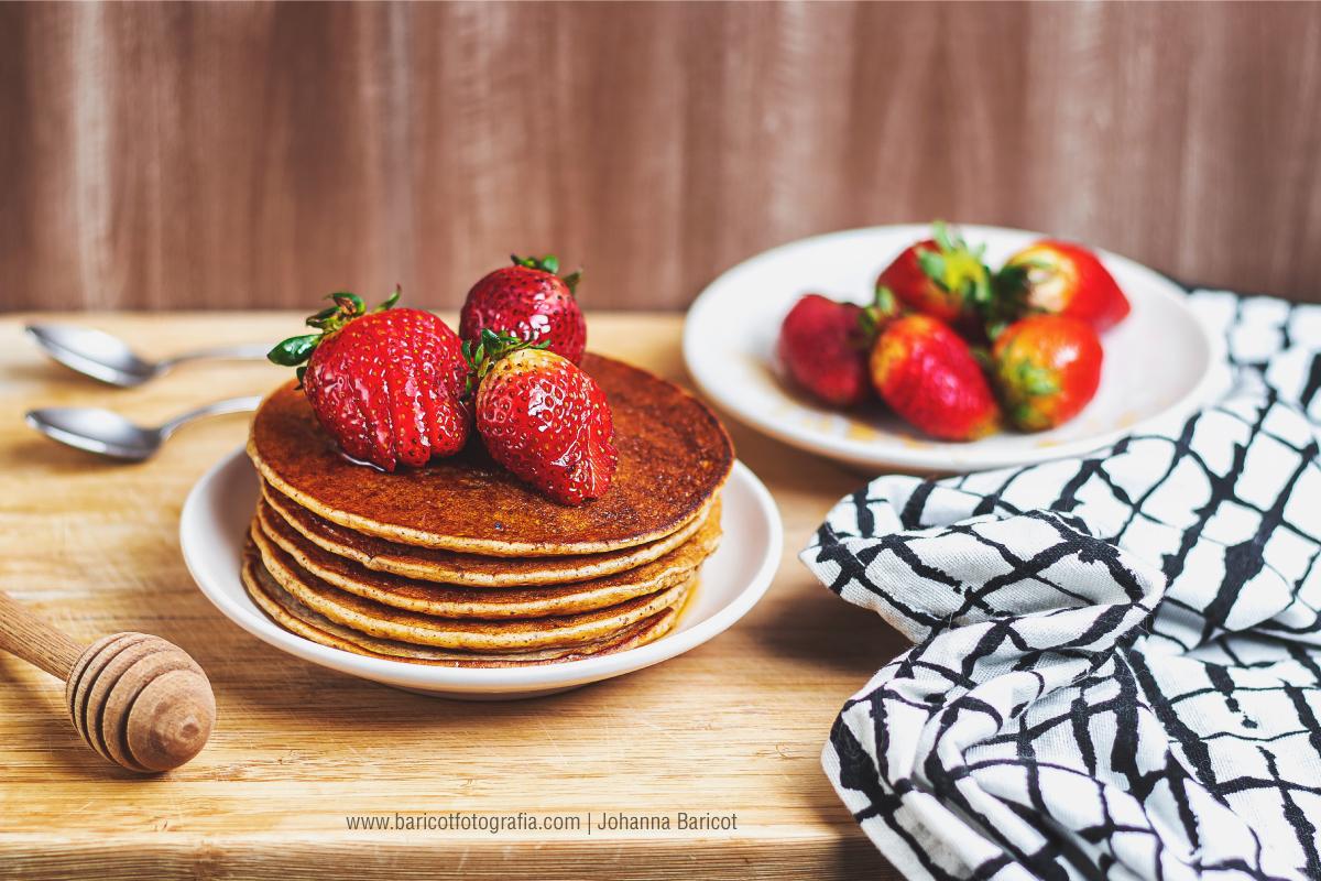 Mini sesión de fotografía de productos | Pancakes o panquecas dulces