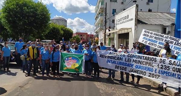 Agentes Comunitários de Saúde de Chapadinha protestam por direitos