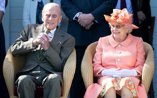 Queen Elizabeth II at Windsor Castle. Queen Elizabeth and Prince Philip