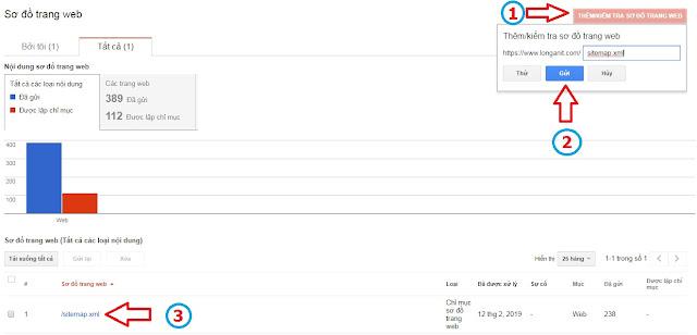 Hướng dẫn Submit Google Sitemap lên google