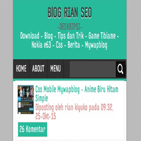 CSS Mobile Mywapblog - Simple Minimal Blog SEO