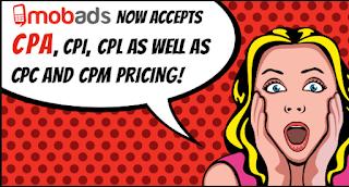 Ganar dinero con MobAds - Campañas CPM, CPC, CPA