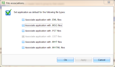 How to set email file associations in MS Windows.