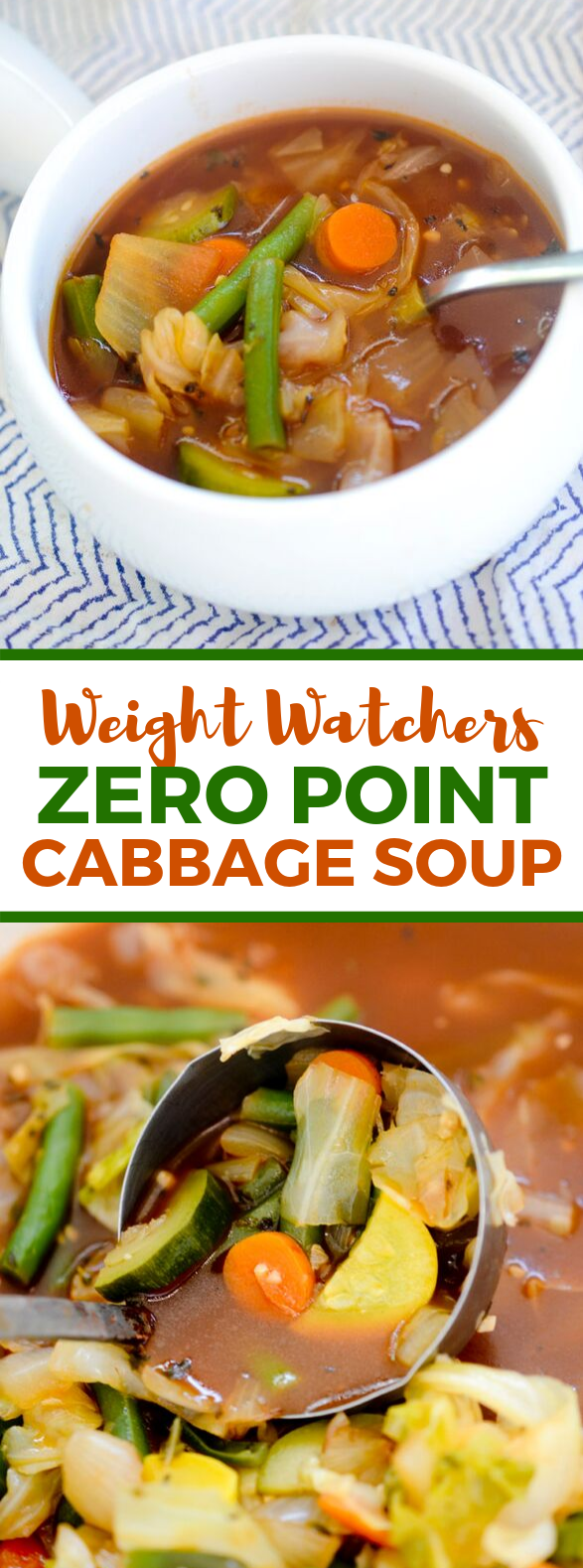 WEIGHT WATCHERS ZERO POINT CABBAGE SOUP #healthy #diet