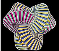 Geométrico colorido em PNG